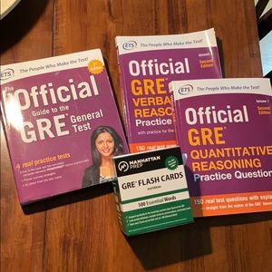 GRE workbooks and Flashcards